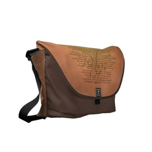 Psalm 91 Bible Verse Courier Bag