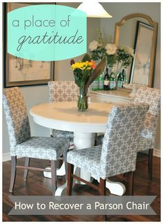 a place of gratitude: How to Recover a Parson Chair
