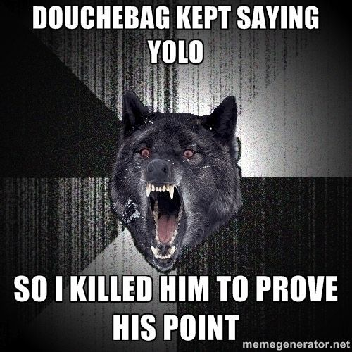 Insanity Wolf via Meme Generator