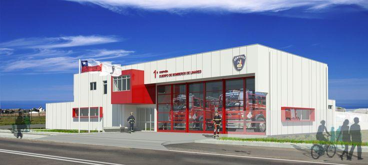 Fire Station 1 Compañía Cuerpo de Bomberos de Linares, Chile