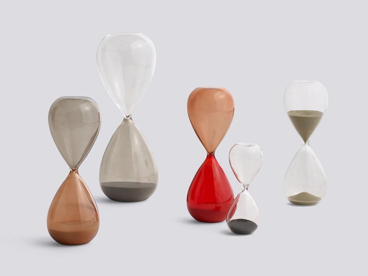 Measure time in style with the Hay Time Hourglasses available at www.nest.co.uk #contemporarydesign #scandinaviandesign