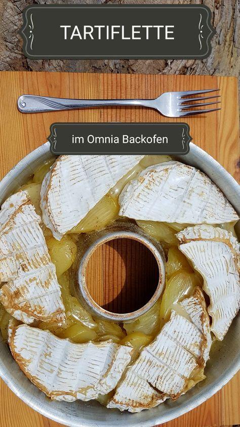 viel zerlaufener Käse auf leckeren Kartoffeln... Tartiflette aus dem Omnia Camping Backofen