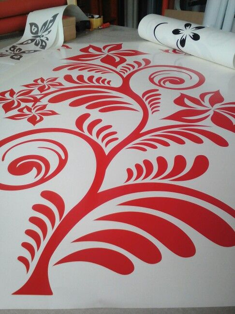 A guant flower wall art decal for Kata