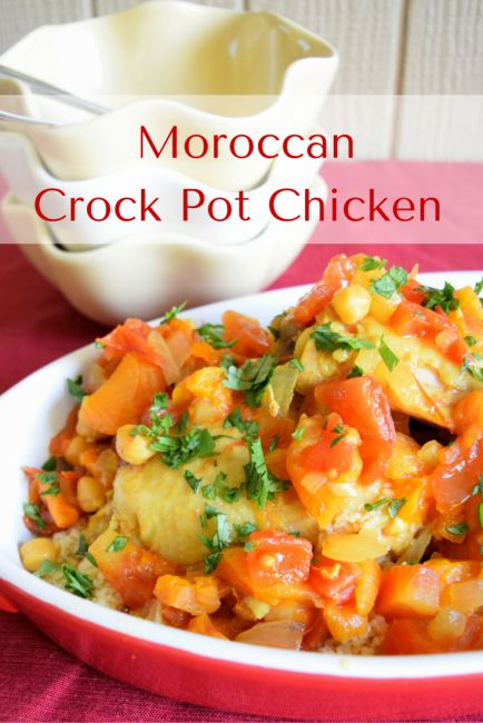 Crock Pot Moroccan Chicken with Apricots and Chickpeas | Recipe | The ...