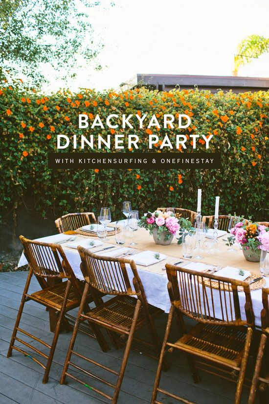 BACKYARD DINNER PARTY
