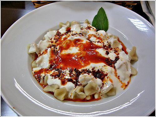 Manti, Turkish ravioli with minced meat