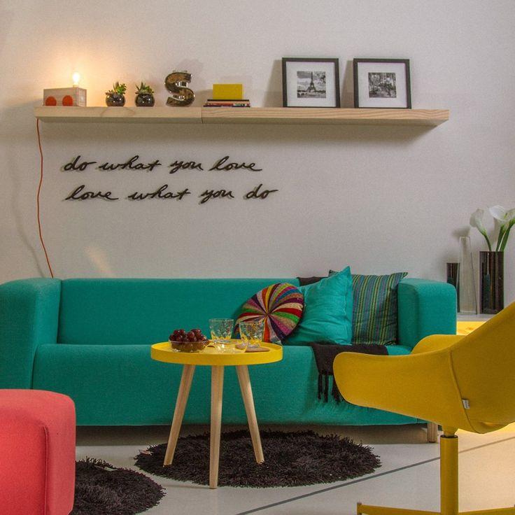 Sala De Tv Com Sofa Amarelo ~ cores sofá amarelo turquesa sala de estar decoração sala cantinho