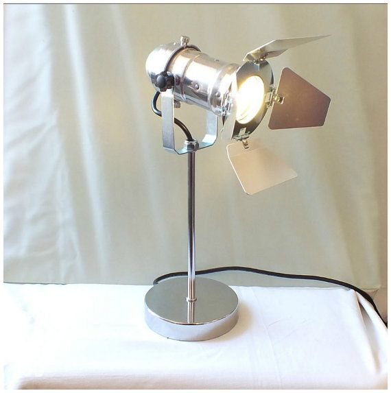 Silver Retro Chic Theatre light. Industrial Style by Studio160uk
