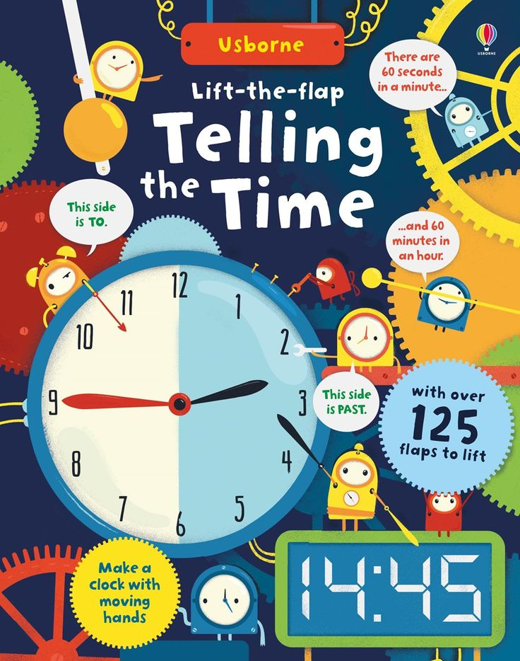 Lift-the-flap telling the time New for November