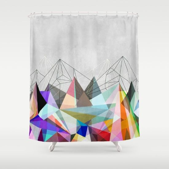 Colorflash+3+Shower+Curtain+by+Mareike+Böhmer+Graphics+-+$68.00