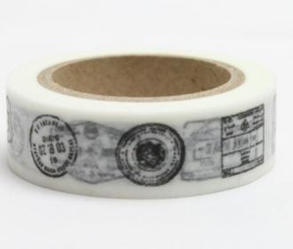 Washi pásky a Duct Tape - Washi pásky 15mmx10m - Dekorační lepicí páska - WASHI tape-1ks razítka různá - Výtvarné hračky