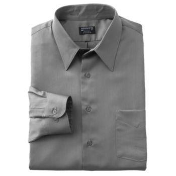 Arrow Fitted Sateen Solid Point-Collar Dress Shirt - Men