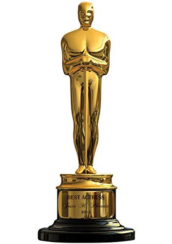 J.P. London MD4168PS Peel and Stick Extra Life Size Academy Award Movie Oscar Statue Fully Removable Wall Mural Applique, 7-Feet by 3-Feet