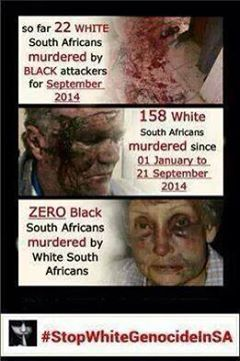 Farm murders - a slow genocide of the white south african.