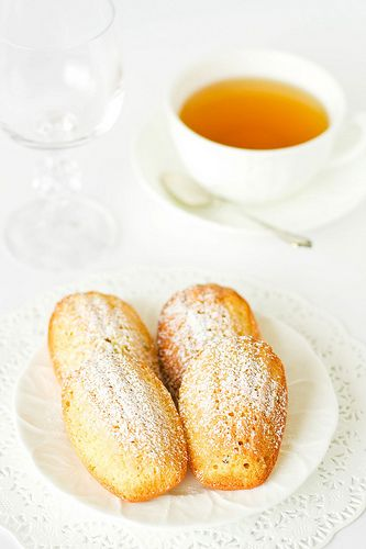 """Passion fruit madeleines - From the  book """"Pier"""" by Greg Doyle."""