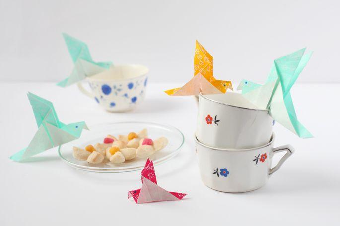 Origami mésange