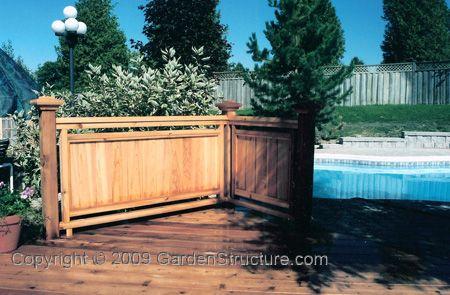 Solid deck rail