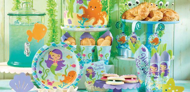 Idee festa di compleanno Sirenetta per bambine - VegaooParty