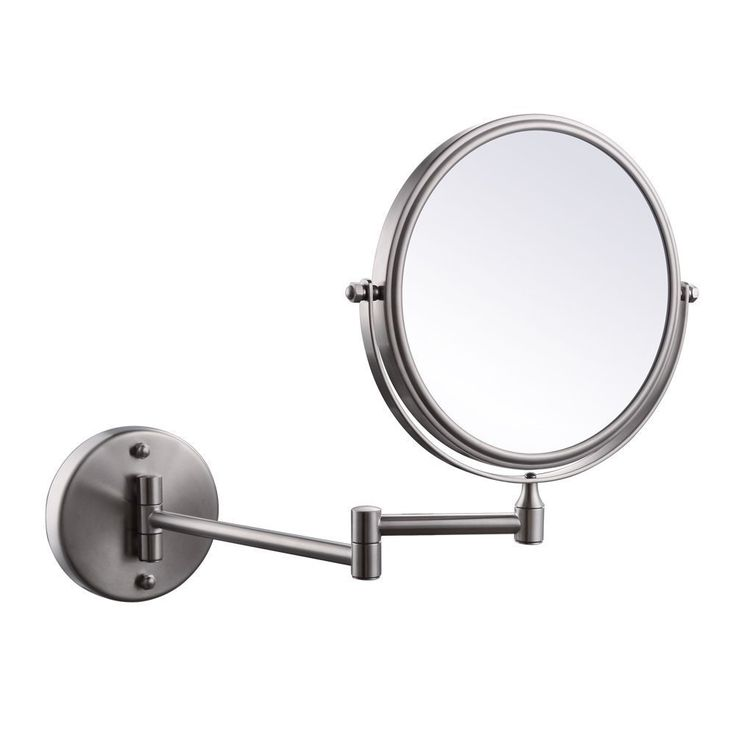 Gallery For Photographers Trees Wall Mount Brushed Finish Makeup Folding Mirror Bathroom x Magnification Two Sided Telescopic Swivel