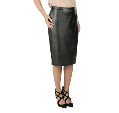 Guillaume Luxe Faux Leather Pencil Skirt