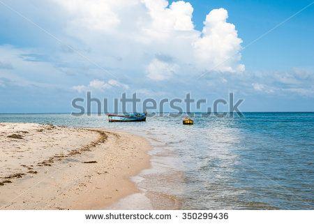 City Rameswaram, Tamil Nadu, South India. Bay of Bengal - stock photo