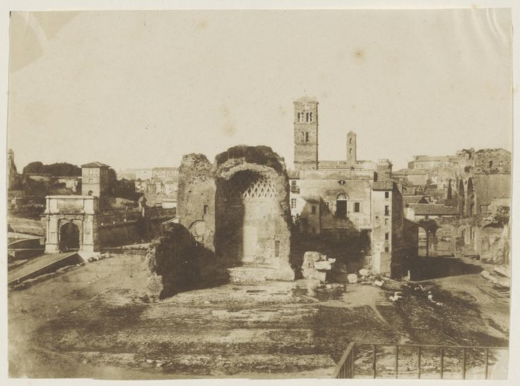Temple of Venus and Roma, French, about 1850