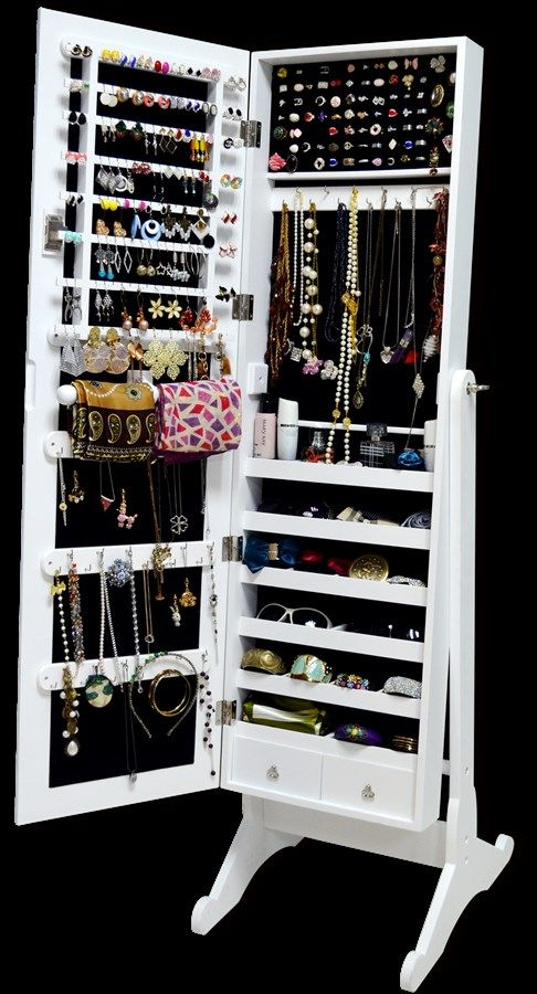 floor standing jewelry armoire