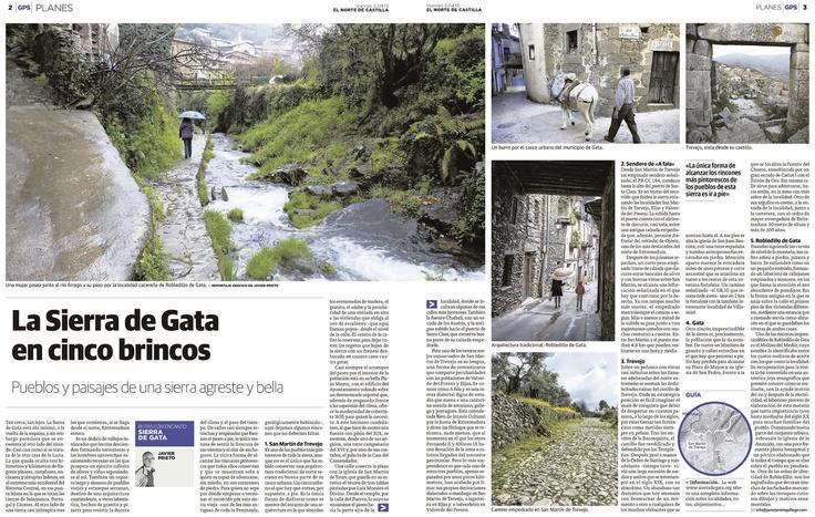 Reportaje Cinco pistas para recorrer la Sierra de Gata, de Javier Prieto Gallego, en El Norte de Castilla. www.siempredepaso.es