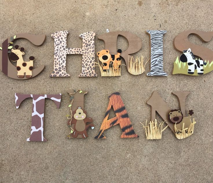 A personal favorite from my Etsy shop https://www.etsy.com/listing/263380720/safari-wooden-letters-animal-woodel