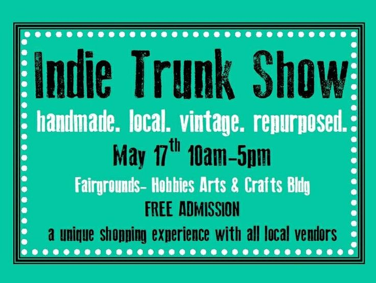 Indie Trunk Show!