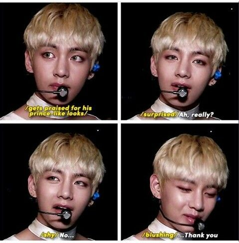 Taehyung's precious humility..  he really doesn't fathom that he's one of the most beautiful men alive..  inside and out..  I mean, if demigods were a thing, their human forms would look like him.. he's on that level..