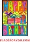 Happy Birthday Garden Flag