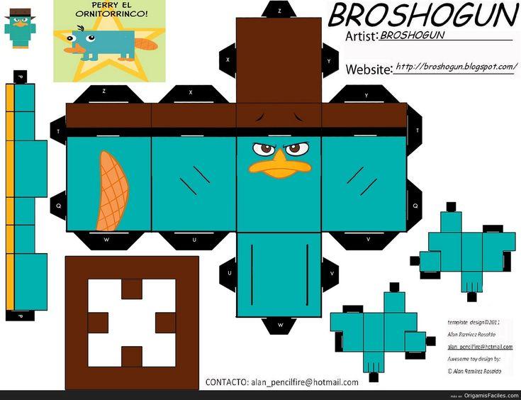 papercraft | perry el ornitorrinco papercraft 2