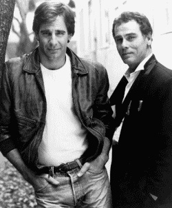 "Scott Bakula and Dean Stockwell from one of my all time favorite shows ""Quantum Leap."""
