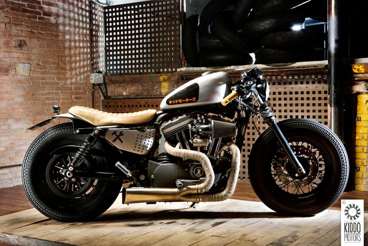 Wow. Low-rider: a cool custom Harley from Barcelona-based Kiddo Motors. http://kiddomotors.com