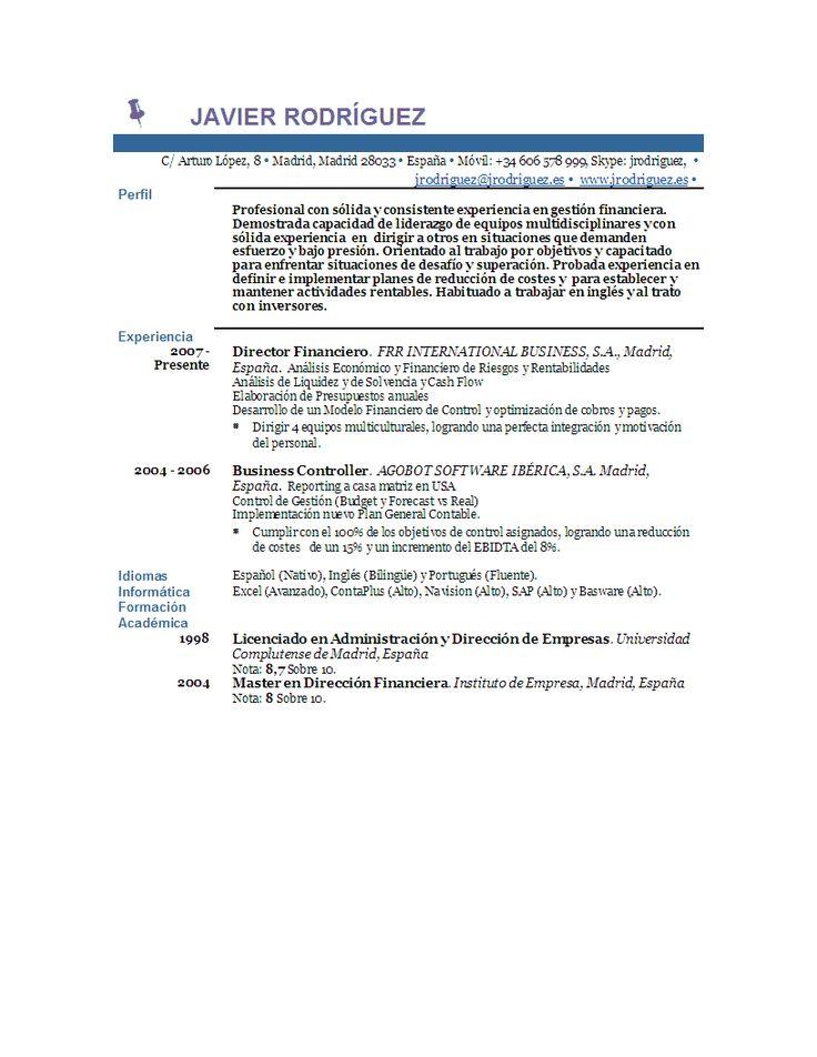 Ver Curriculum | Muestra de Curriculum | Ver Muestra de Curriculum Hecho con CurriculumFacil