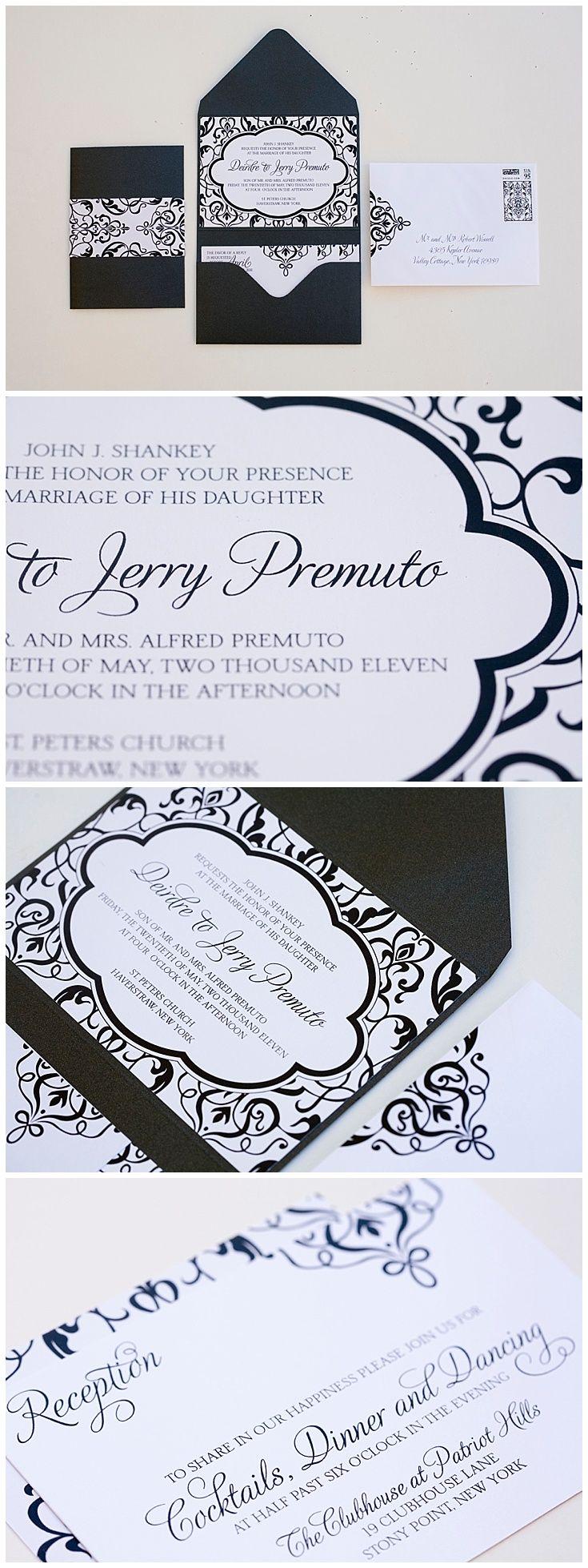 Best 104 Black Invitations Images On Pinterest Retro Wedding