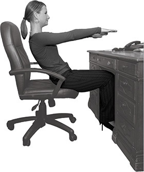 Get six-pack abs at your desk! Workout ideas in the office!
