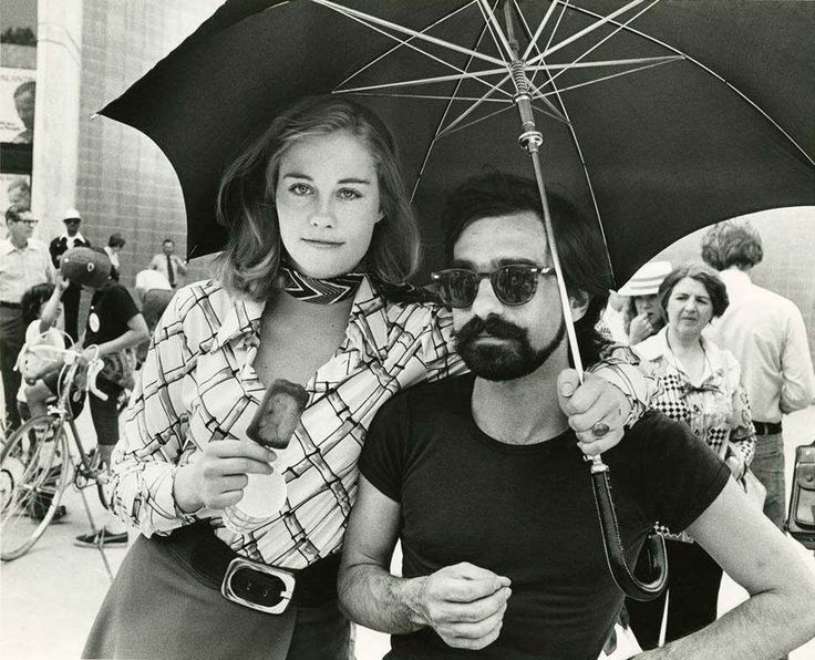 """Martin Scorsese and Cybill Shepherd on the set of """"Taxi Driver""""."""