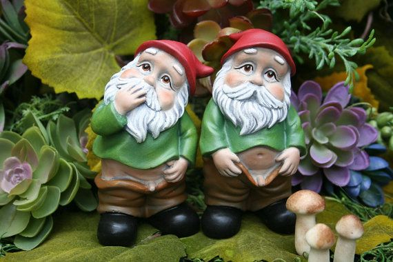 Funny Gnome Caught With His Pants Down Wee by PhenomeGNOME