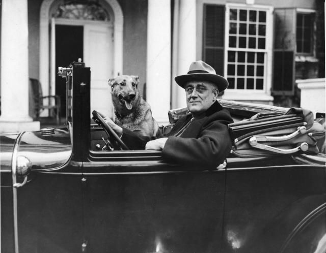 The Life and Presidency of Franklin D. Roosevelt: Franklin Delano Roosevelt outside of his home in Hyde Park, NY in the mid 1930s
