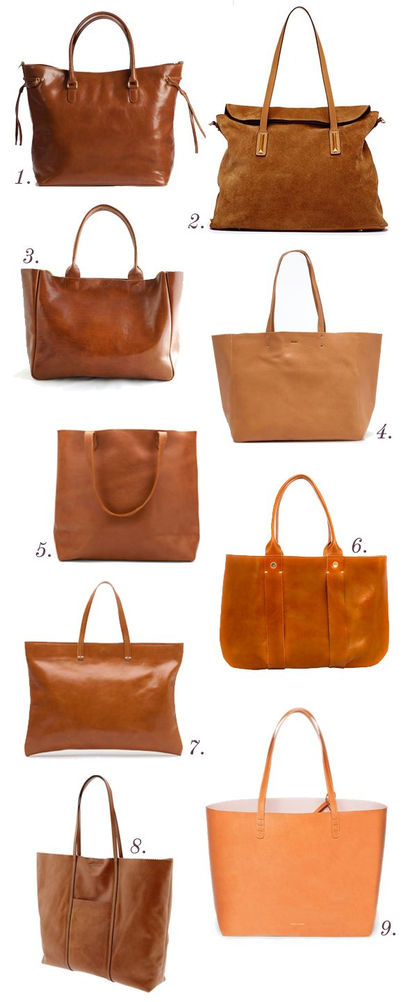Stalking the perfect classic leather tote - which one will it be Julie? I would take them ALL....