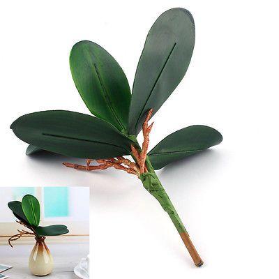 Orchidea Farfalla Erba Artificiale PU Foglia Verde Decorazione Casa DIY