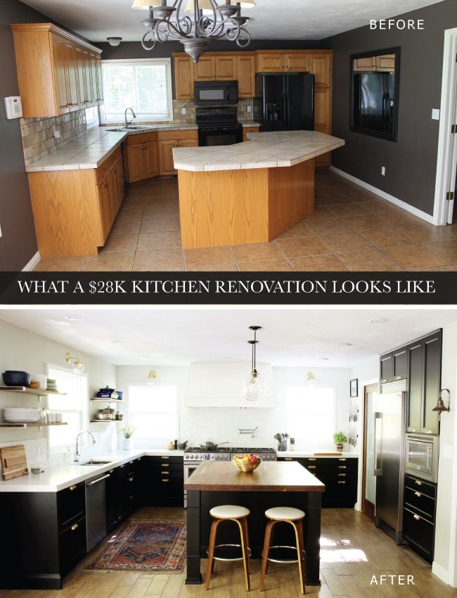 What a $28K Kitchen Renovation Looks Like | Chris Loves Julia  Shows detailed cost breakdown $28k remodel
