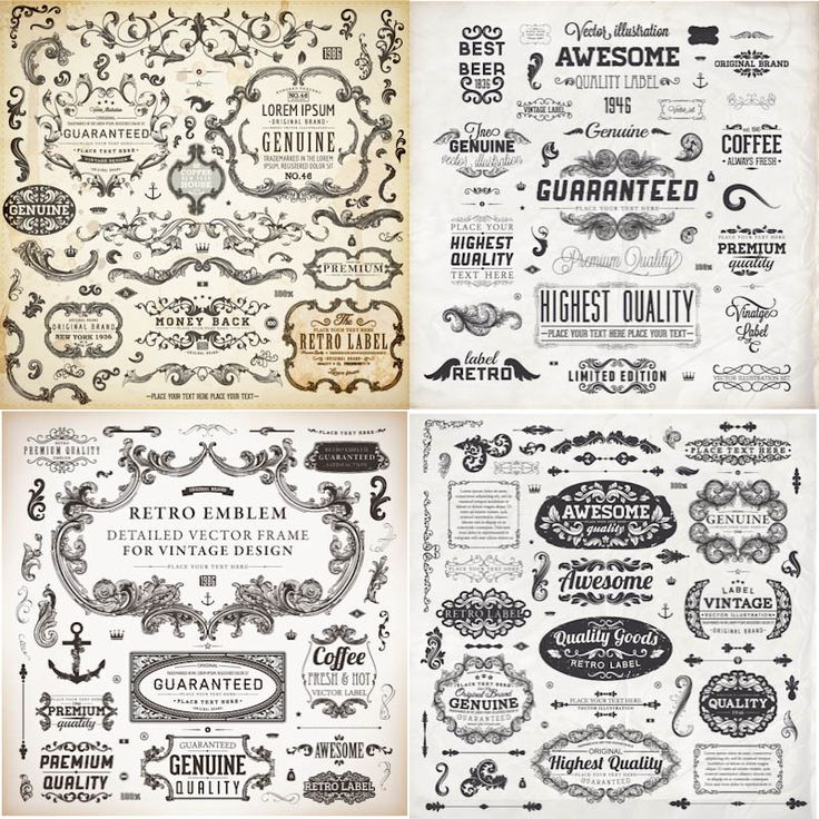 1043 best frames images on pinterest arabesque decoupage and 4 sets of vector vintage frames and labels in decorative classic style for your embellishment card designs wedding invitation templates business cards stopboris Image collections