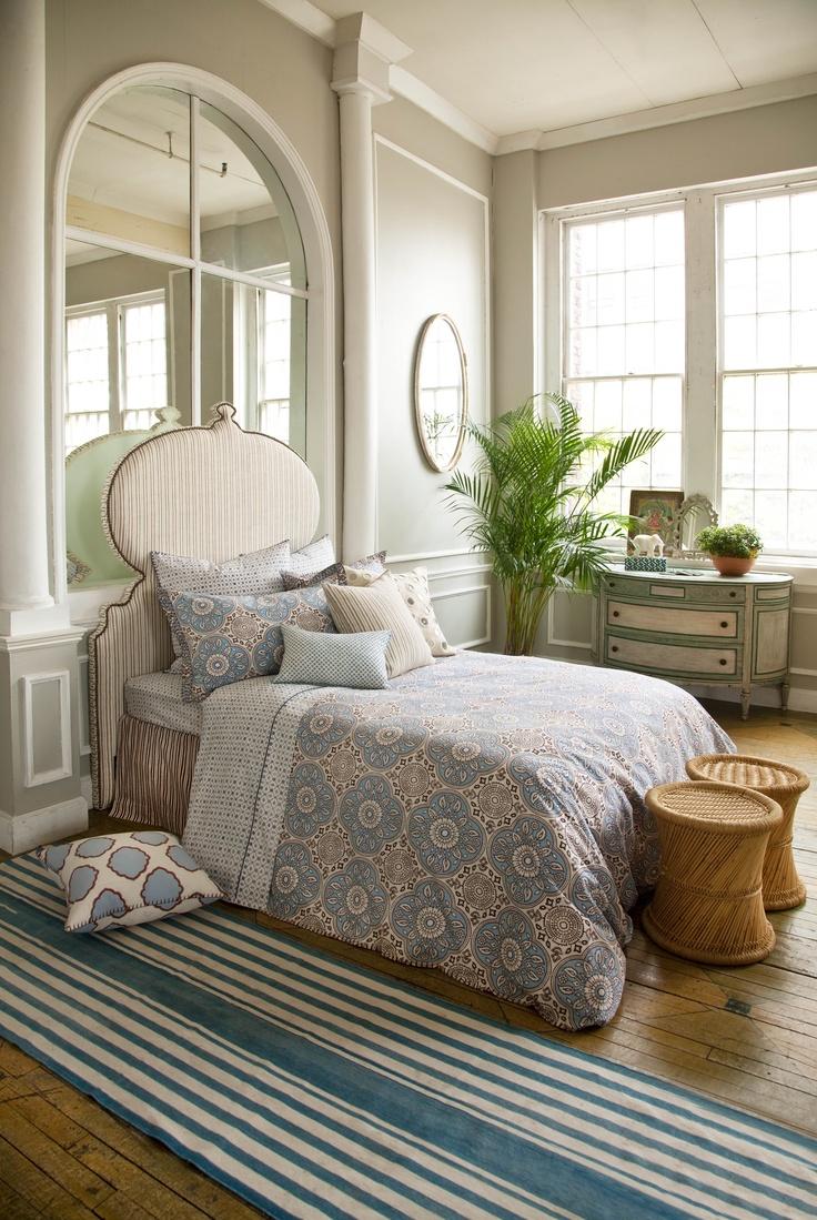 room furnished with john robshaw bedding madura neela duvet bergamot dec pillow vintage