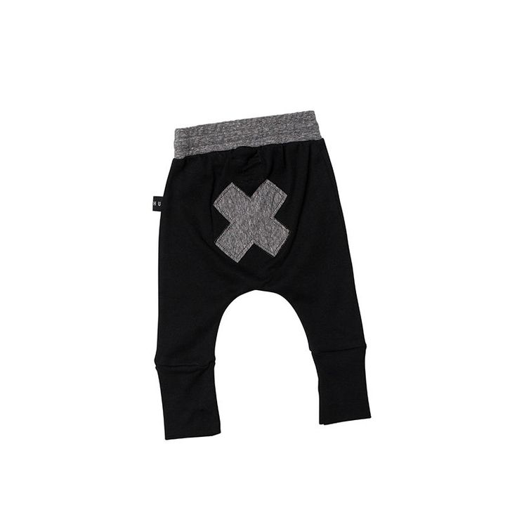 top3 by design - Huxbaby - high cuff pant black 0-3 months