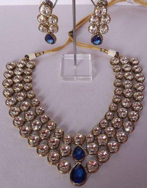 Multi Layered Kundan Necklace Set