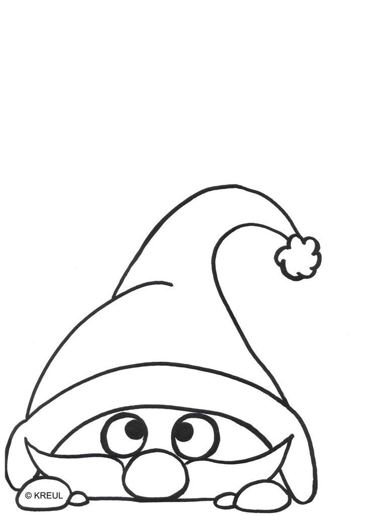 neugierige weihnachtswichtel mit kreul window color