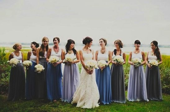 blue skirt arrangements